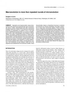 Macroevolution is more than repeated rounds of ... - Semantic Scholar