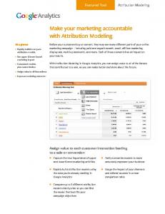 Make your marketing accountable with Attribution ...  Services