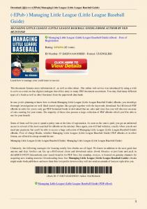 Managing-Little-League-Little-League-Baseball-Guide.pdf  ...