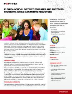 Manatee County School District - Fortinet