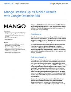 Mango Dresses Up Its Mobile Results with Google ...  Services