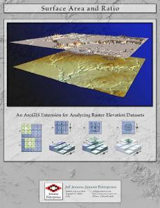 Manual: Surface Area and Ratio for ArcGIS - Jenness Enterprises