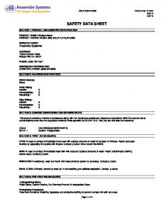 material safety data sheet page 1 of x