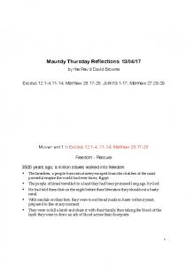Maundy Thursday Reflection A4