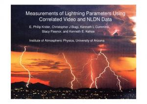 Measurements of Lightning Parameters Using ...