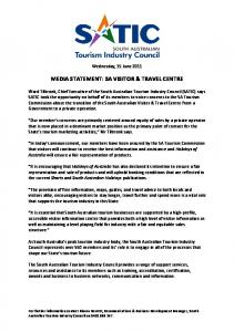 media statement: sa visitor & travel centre - SATIC