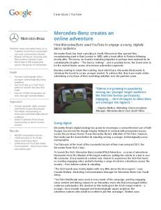 Mercedes-Benz creates an online adventure  Marketing ...