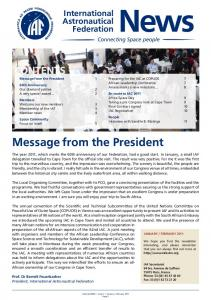 Message from the President -