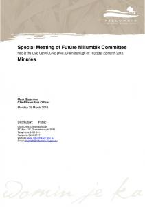 Minutes of Special Meeting of Future Nillumbik Committe - 22 March ...