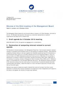 Minutes of the 93rd meeting of the Management Board - European ...