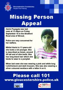 Missing Person Appeal -