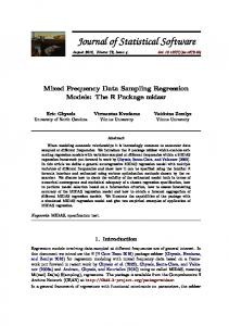 Mixed Frequency Data Sampling Regression Models: The R Package ...