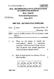 MMT-009 No. of Printed Pages : 5 M.Sc. (MATHEMATICS WITH ...