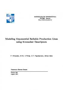 Modeling Exponential Reliable Production Lines using ... - PUCRS