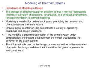 Modeling of Thermal Systems