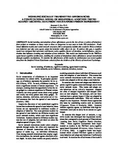 modeling socially transmitted affordances: a ...