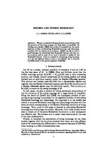 MODELS AND STRING HOMOLOGY 1. Introduction Let ...