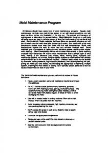 Mold Maintenance Program.pdf