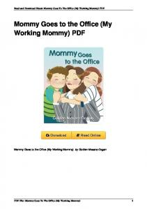 Mommy Goes to the Office (My Working Mommy) by Gulden ...