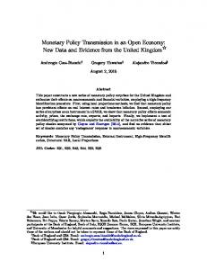 Monetary Policy Transmission in an Open Economy - LSE Research ...