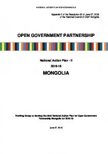mongolia - Open Government Partnership