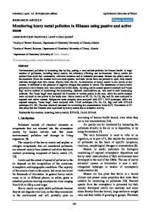Monitoring heavy metal pollution in Elbasan using passive and ... - Core