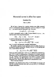Monomial curves in affine four space
