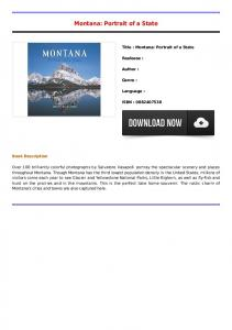 Montana: Portrait of a State