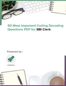 Most Important 50 Coding Decoding Questions for SBI Clerk 2018 .pdf ...