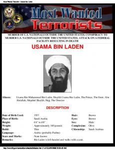 Most Wanted Terrorist - Usama Bin Laden
