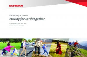 Moving forward together - Eastman Chemical