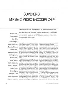 mpeg-2 video encoder chip - IEEE Xplore