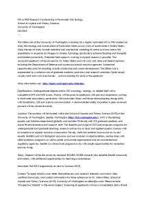 MS or PhD Research Assistantship in Freshwater Fish Ecology School ...
