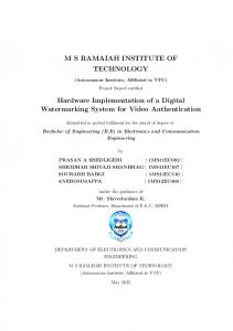 MS RAMAIAH INSTITUTE OF TECHNOLOGY Hardware ... - GitHub