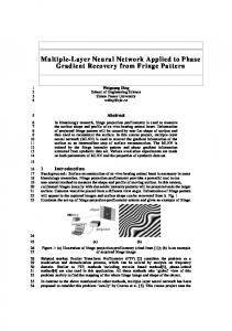 Multiple-Layer Neural Network Applied to Phase ... - Semantic Scholar