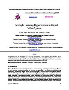 Multiple Learning Opportunities in Expert Video System