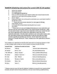 MyMCPS_Scheduling Instructions for Rising 11th and 12th ...