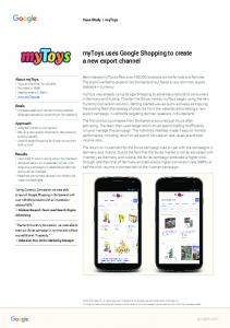 myToys uses Google Shopping to create a new ...  Services