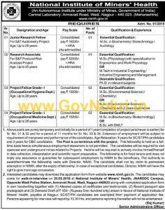 National Institute of Miners Health Nagpur Recruitment 2018 ...