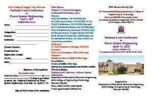 National Level Conference Power System Engineering National Level ...