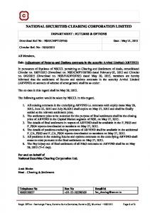 national securities clearing corporation limited - NSE