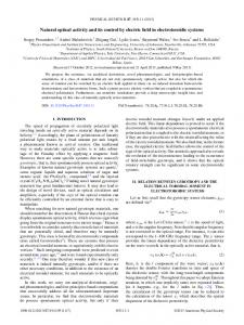 Natural optical activity and its control by electric field in electrotoroidic ...