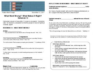 Nehemiah 13 - What Went Wrong, What Makes It Right_.pdf ...