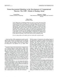 Nested Incremental Modeling in the Development of Computational ...