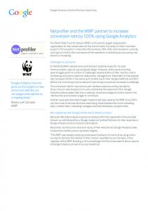 Netprofiler and the WWF partner to increase conversion rate ...
