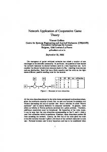 Network Application of Cooperative Game Theory