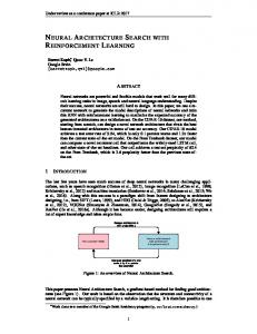 neural architecture search with reinforcement ... -
