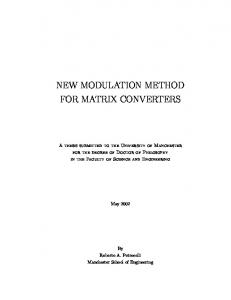 New Modulation Method for Matrix Converters_PhD Thesis.pdf ...