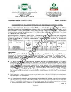 NFL Recruitment 2018 Advt 01(RFCL)/2018@govnokri.in.pdf ...