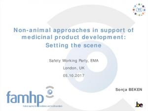 Non-animal approaches in support of medicinal product development ...